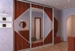 "№6. Двери из <a href=""http://www.kupesalon.ru/catalog/ldsp-gotovie"" title=""Цены на шкафы из ламината"">ЛДСП</a> с зеркалом"