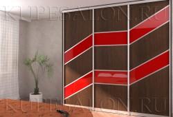 №31. Комби ЛДСП и цветное стекло  Цена: 45 400 руб