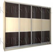 чёрно-белый вместительный шкаф купе из ламинированного дсп