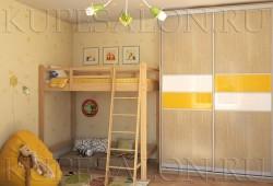 """№3. Шкаф с вставками <a href=""""https://www.kupesalon.ru/catalog/v-detskuyu"""" title=""""Цены на шкафы в детскую"""">в детскую</a>"""
