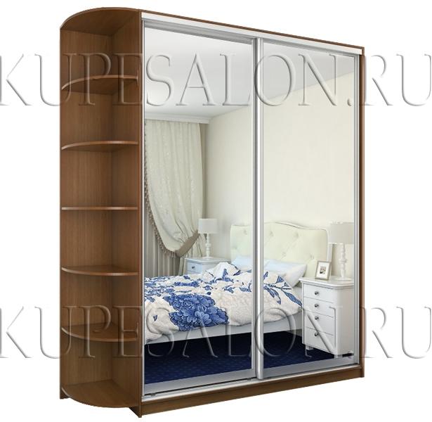 шкаф купе зеркальный недорого на заказ в спальню