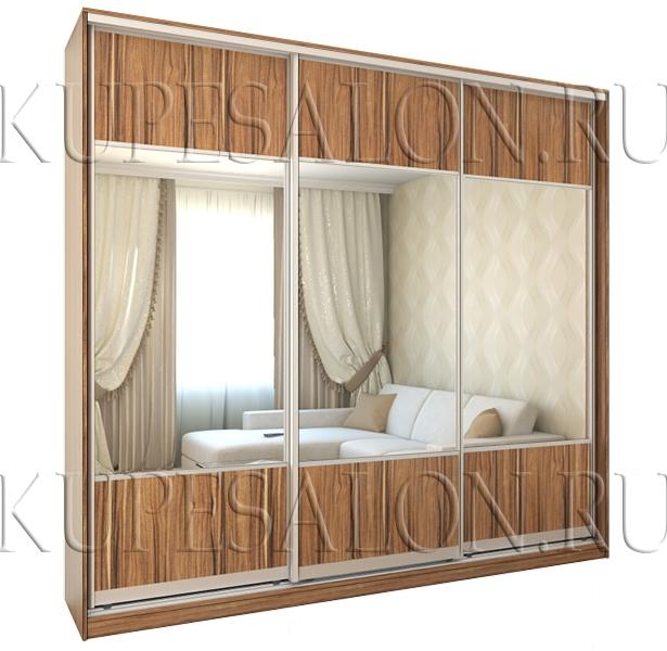 трехдверный шкаф купе с зеркальными дверями фото и цена