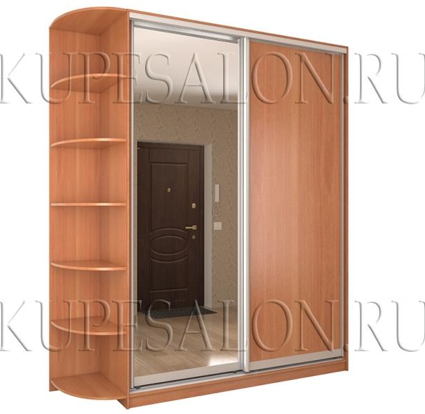 двухдверный шкаф купе с зеркалом для прихожей недорого