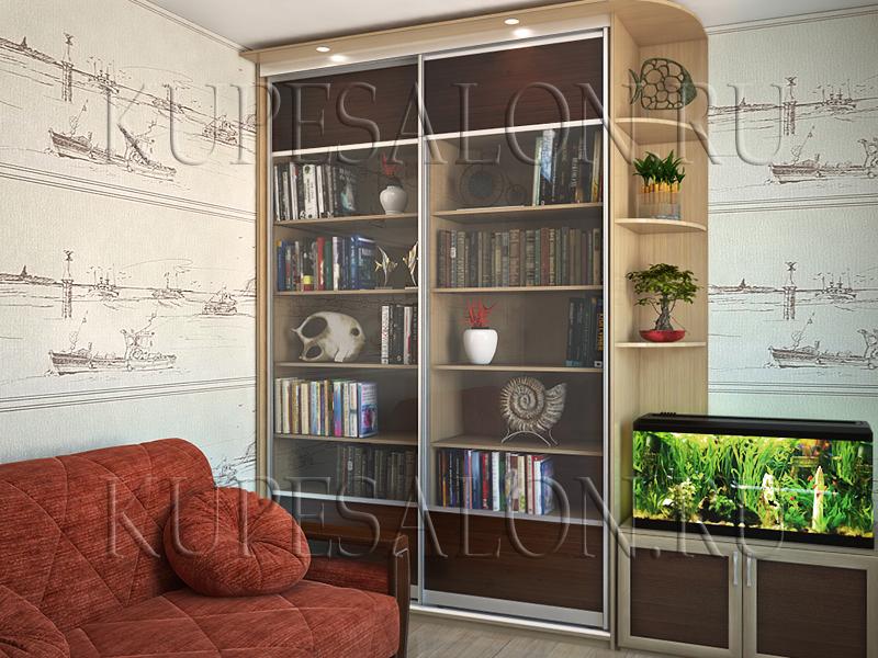 дизайн шкафа купе для библиотеки фото и цена