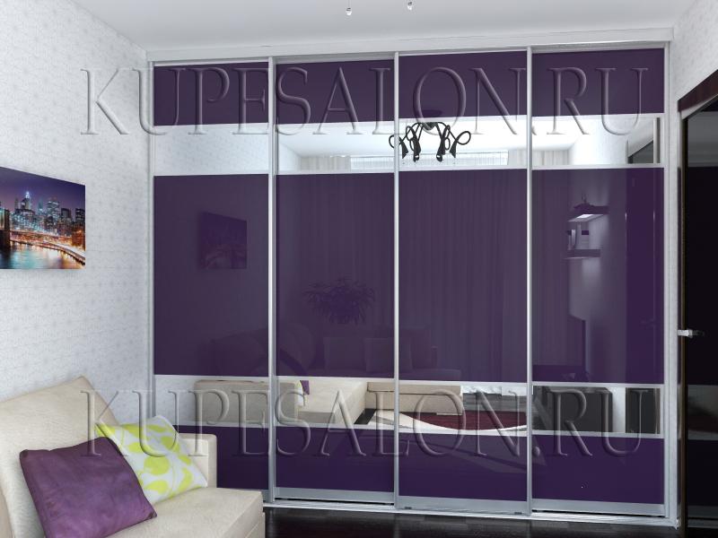дизайн встроенного современного шкафа купе в гостиную