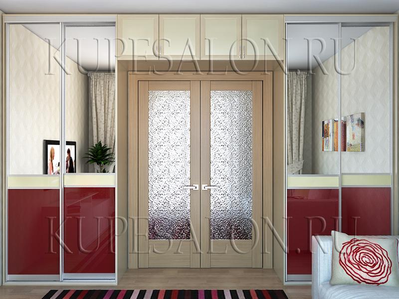 дизайн зеркального шкафа купе в гостиную недорого