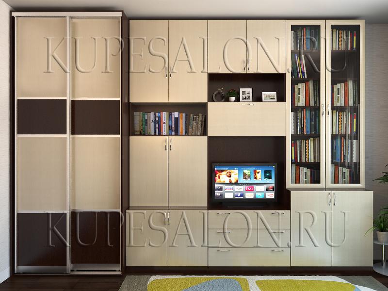 дизайн большого шкафа купе стенки в гостиную