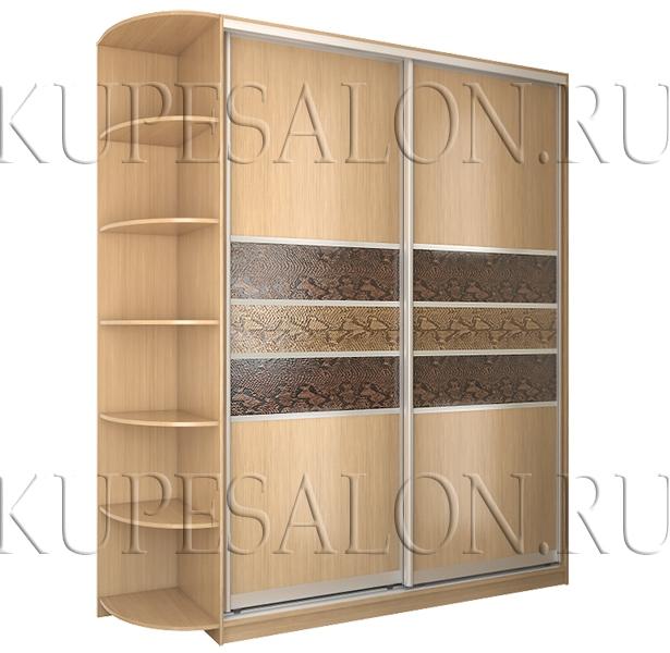 оформление дверей шкафа купе с искусственной кожей