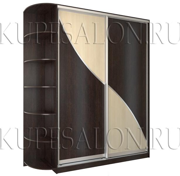 шкаф купе с интересным рисунком лдсп дешево фото