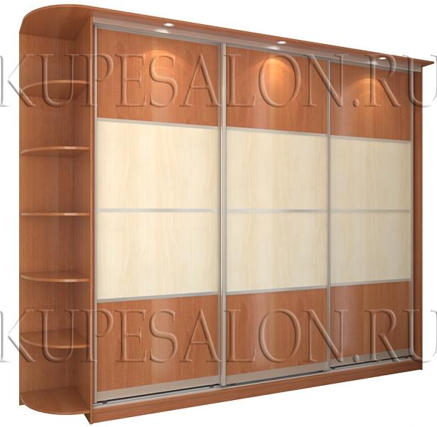 трехдверный шкаф купе с дверями из ламинированного дсп