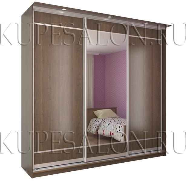 шкаф купе из ламинированного дсп и с зеркалом классика