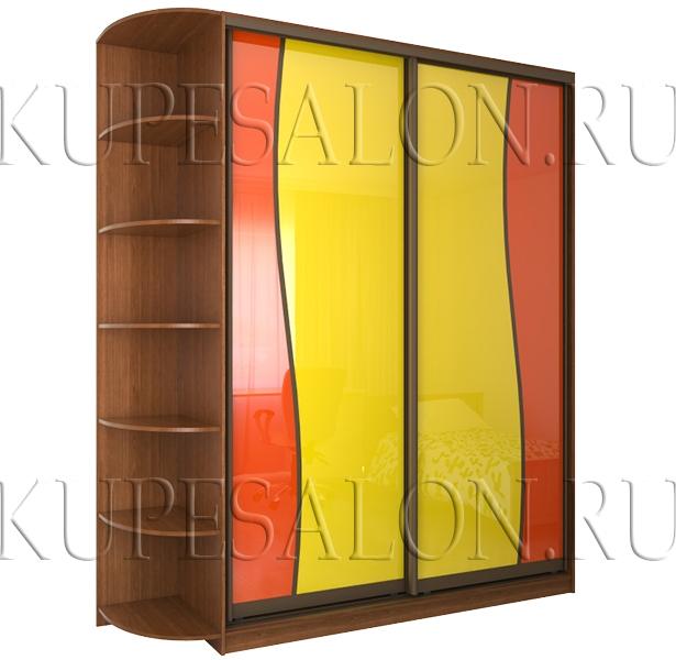 красивый шкаф купе с волнообразным оракалом фото