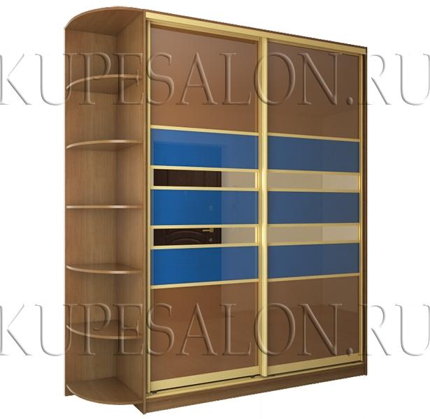 стильный двухдверный шкаф купе с оракалом для прихожей