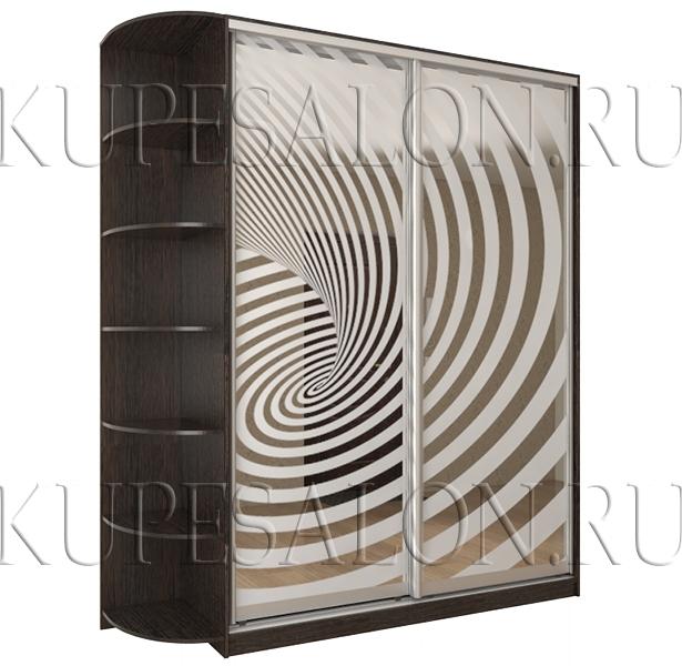 стильный шкаф купе с пескоструем недорого фото