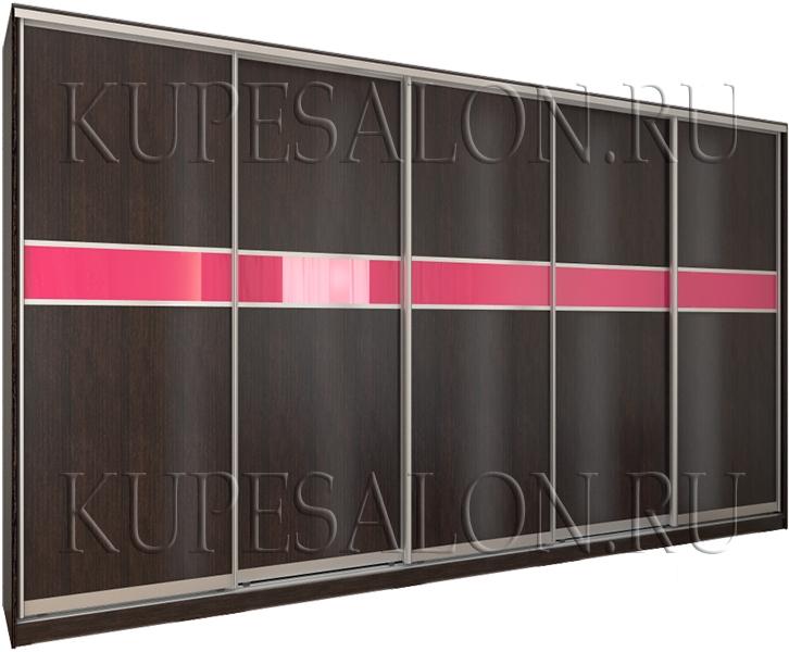 чёрный шкаф купе с 5 дверями на заказ фото