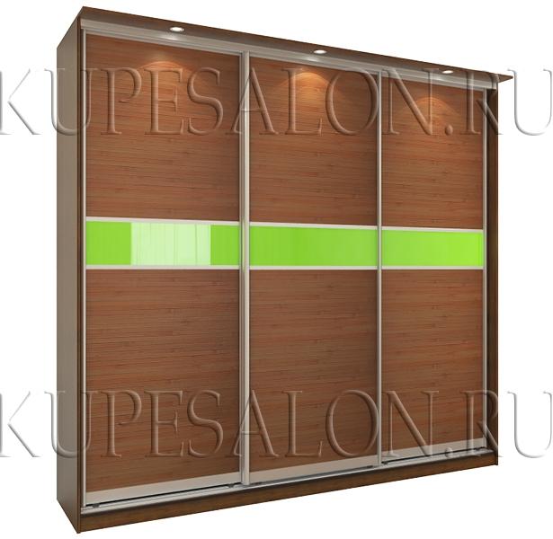 трехдверный шкаф купе с бамбуком и оракалом на заказ