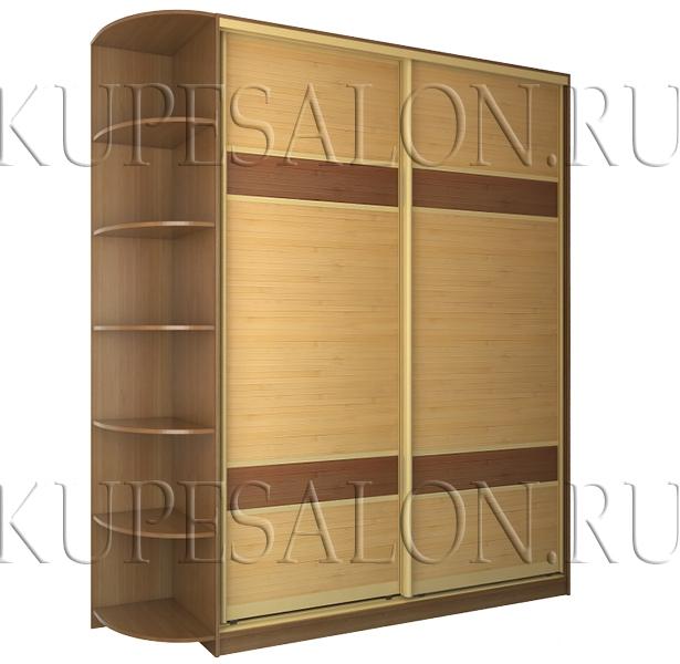 небольшой шкаф купе с бамбуком разных цветов