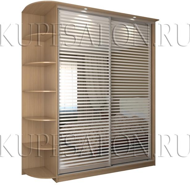стильный маленький шкаф купе с сатинатом в спальню