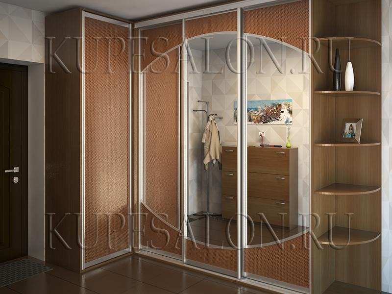 дизайн углового шкафа купе в коридор фото