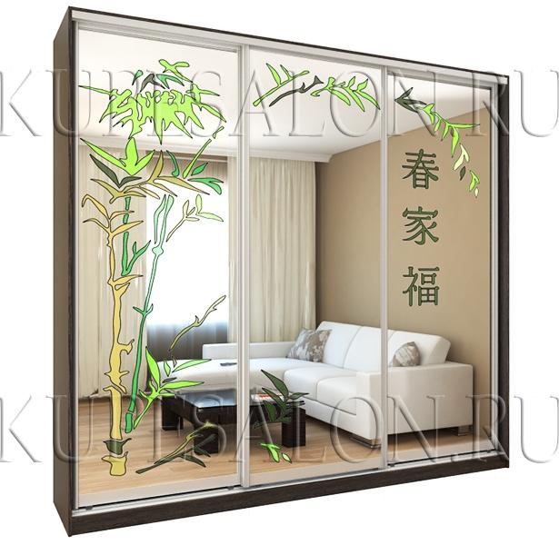 Шкаф «Нежный бамбук» (арт Витр-10)