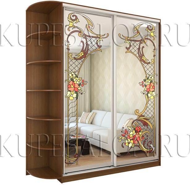 Шкаф купе «Летний сад» (арт Витр-14)