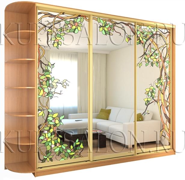 Шкаф купе «Фруктовый сад» (арт Витр-4)