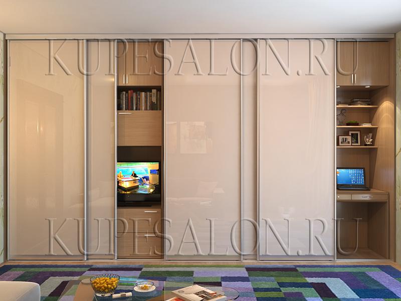 современный встроенный шкаф купе в гостиную фото