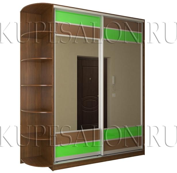 двухдверный шкаф купе зеркальный в прихожую фото
