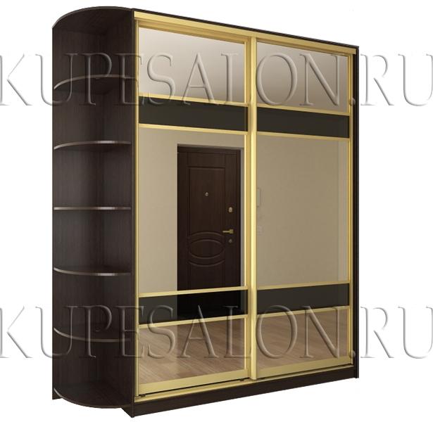 зеркальный шкаф купе в коридор цена и фото