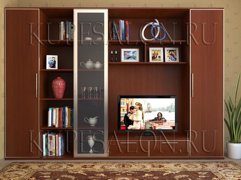 дешевая классическая мебельная горка для гостиной