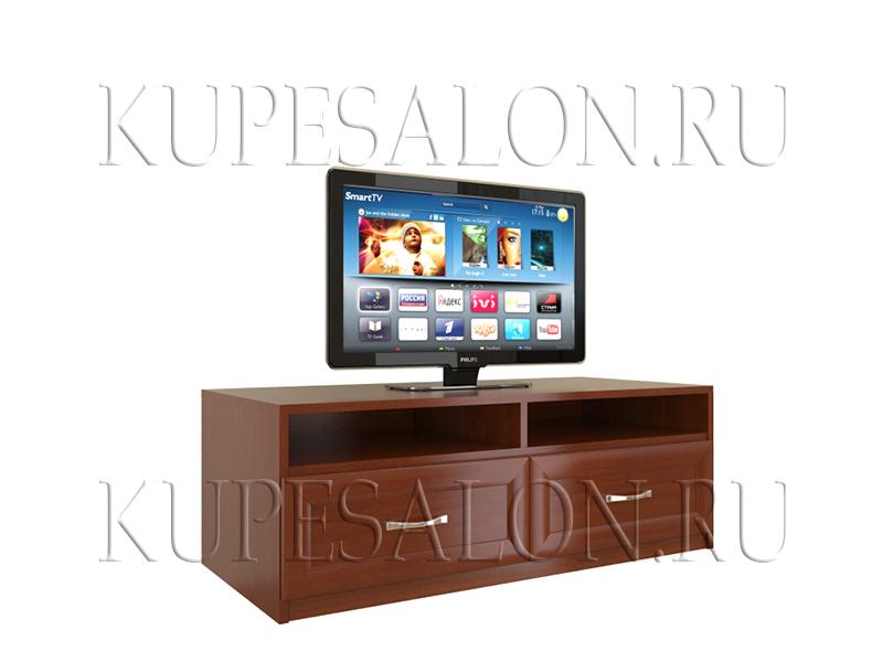 дизайн недорогой тумбочки под телевизор с ящиками на заказ