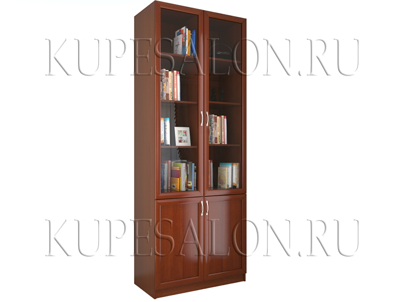 Шкаф книжный двухсекционный (арт Доп-18)