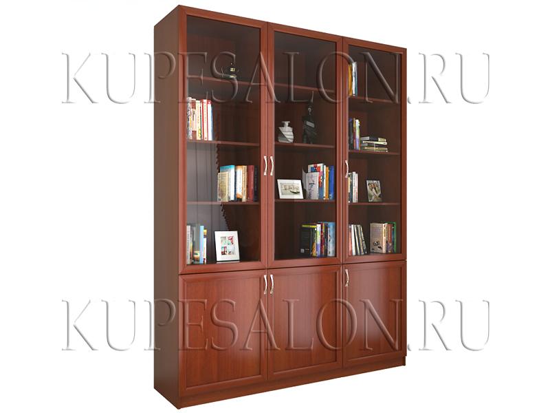 Шкаф книжный трехсекционный (арт Доп-19)