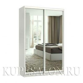 Престиж-2 зеркальный шкаф купе белый