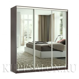 Престиж-3 зеркальный шкаф купе венге