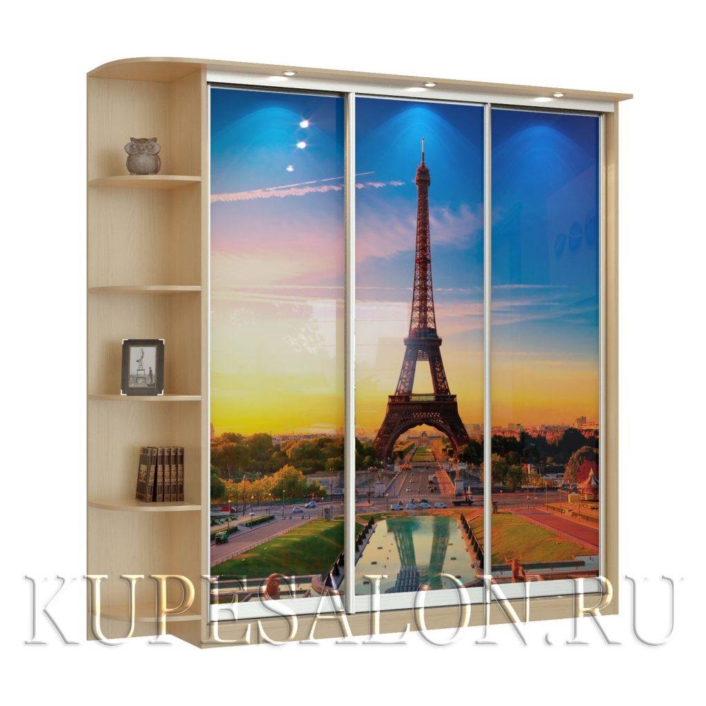 Париж-3-фотопечать шкаф купе
