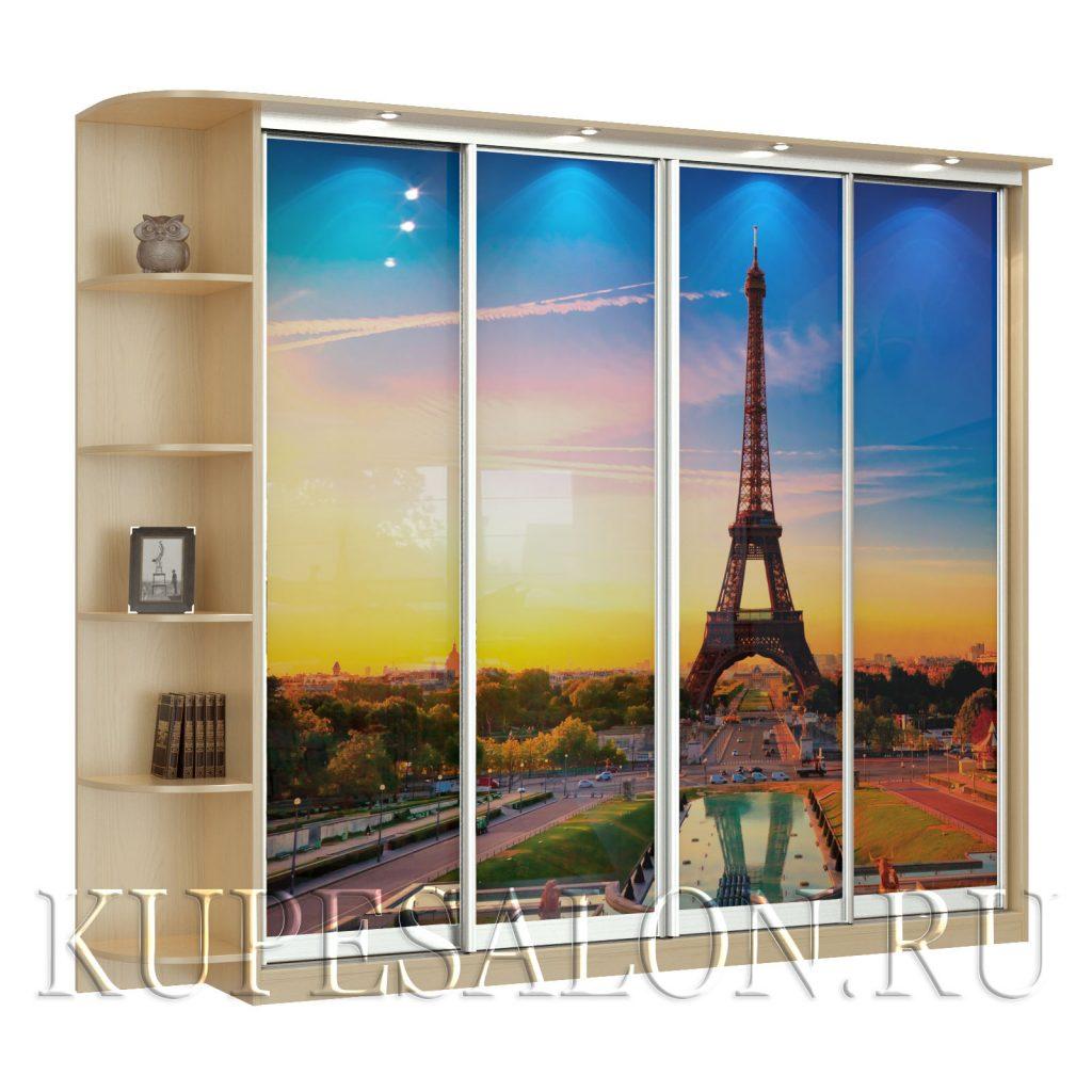 Париж-4-фотопечать шкаф купе