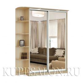 Престиж-2 зеркальный шкаф купе с угловым элементом