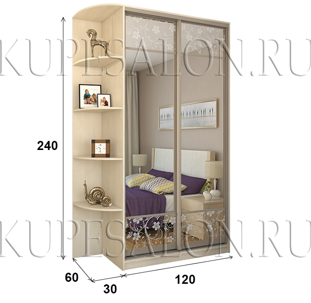 Шкаф «Премиум» 120 пескоструй (арт. СТ-4)