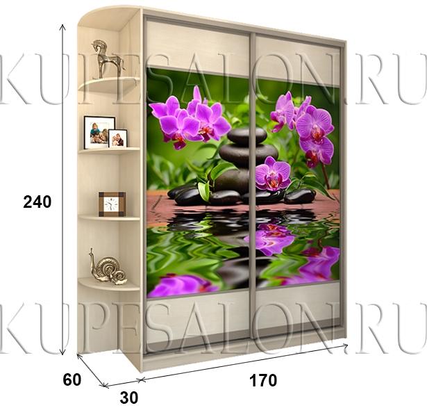 Шкаф «Премиум» 170 фотопечать (арт. СТ-8)