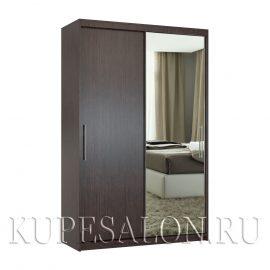 Эконом-2 шкаф-купе с зеркалом