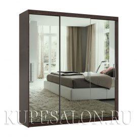Эконом-3 шкаф-купе зеркальный