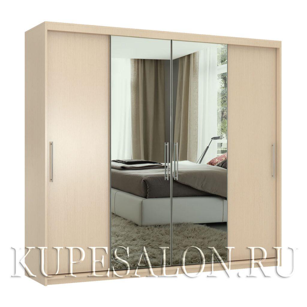 Эконом-4 шкаф-купе с зеркалом