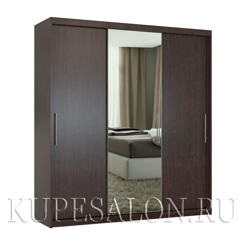 Эконом-3 шкаф-купе с зеркалом