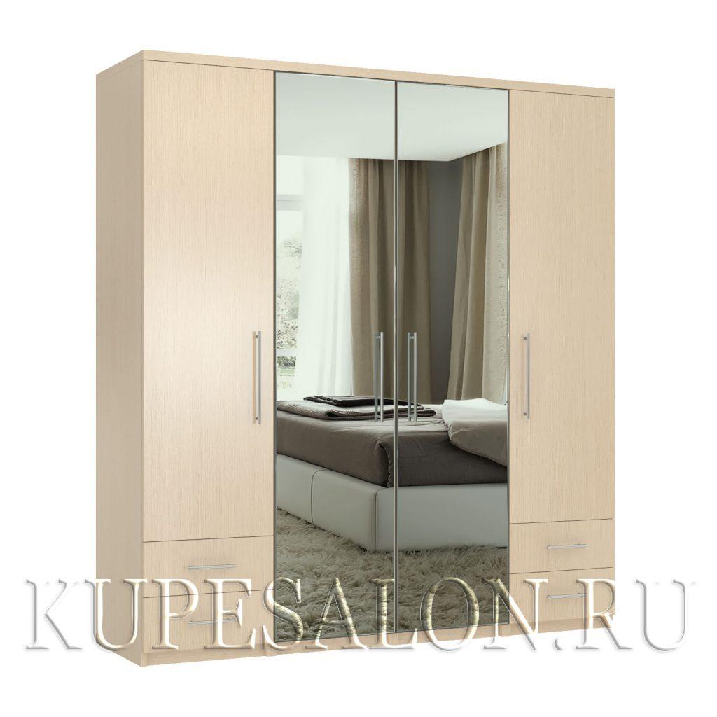 Комфорт-4-я1,4 шкаф с зеркалом