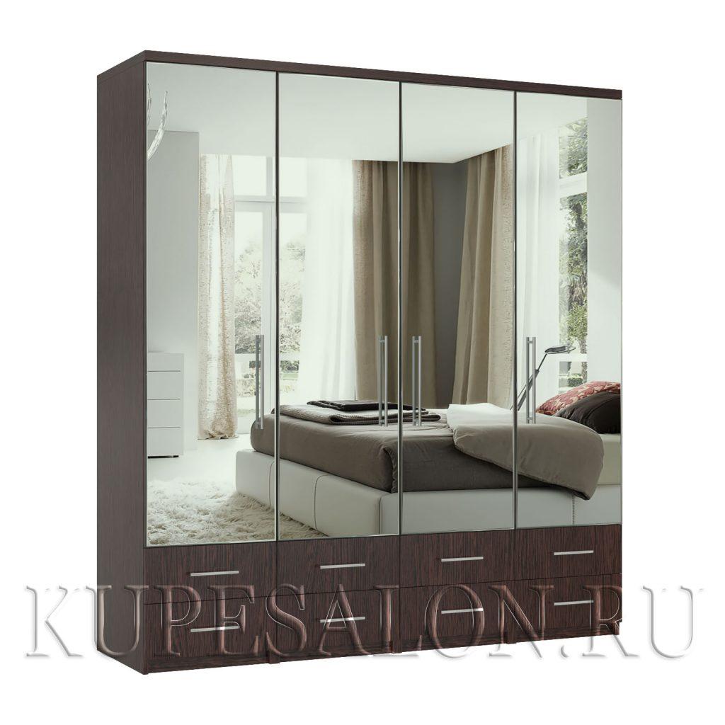 Комфорт-4-я1,2,3,4 шкаф зеркальный