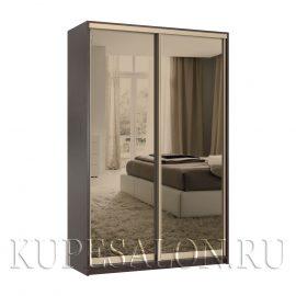 Стандарт-2 шкаф-купе зеркальный бронза