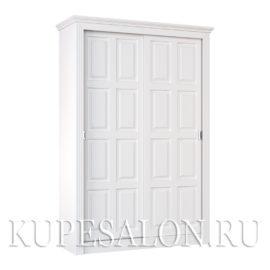 Шкаф купе белый классика-7 двухдверный