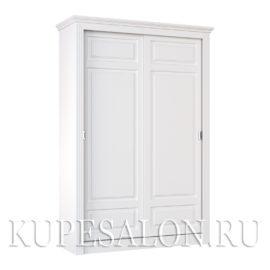Шкаф купе белого цвета классика-10 двухдверный