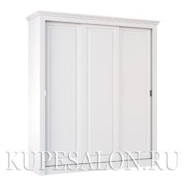 Шкаф купе белый классика-1 трехдверный
